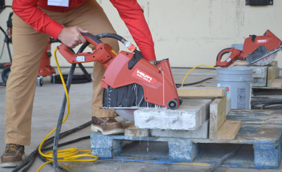 Hilti's DCH 300-X electric diamond cutter