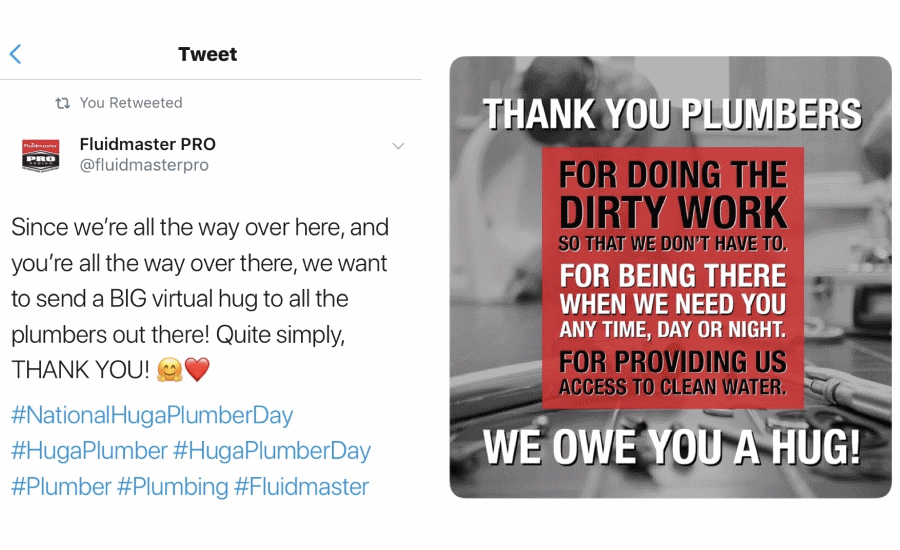 A recap of Hug A Plumber Day 2019