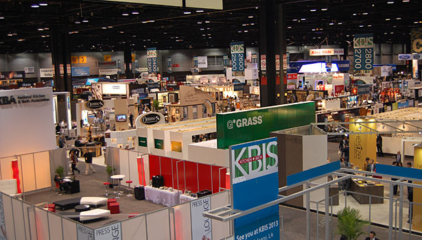 Overview of the show floor at Chicago's McCormick Place. The 2012 KBIS had 550 exhibitors and 32,078 attendees.
