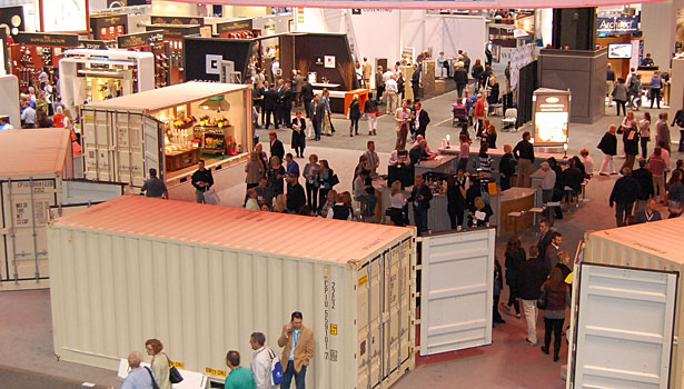 The UNcontained exhibit, anchoring the center of the KBIS show floor, was a journey through the lifestyle stories of five unique consumers and housed in shipping containers.