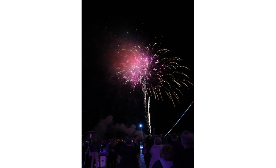 MCAA 2017's opening celebration aboard the USS Midway featured fireworks on the flight deck of the decommissioned aircraft carrier