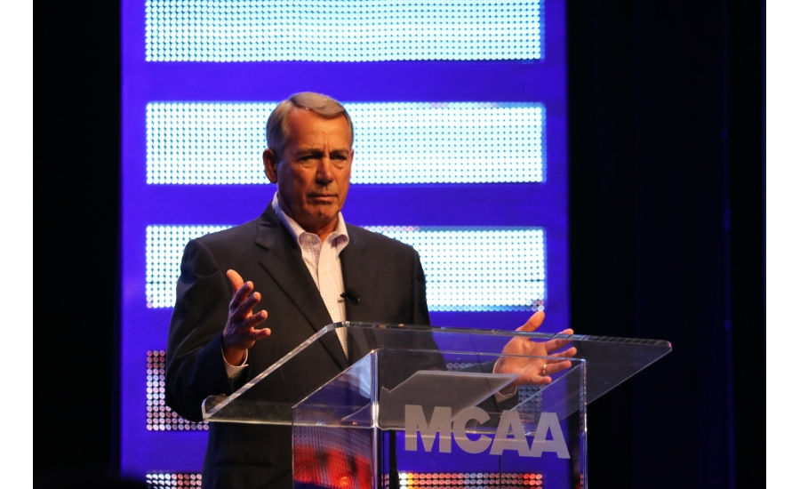 Former Speaker of the House John Boehner speaks to MCAA 2017 attendees in San Diego