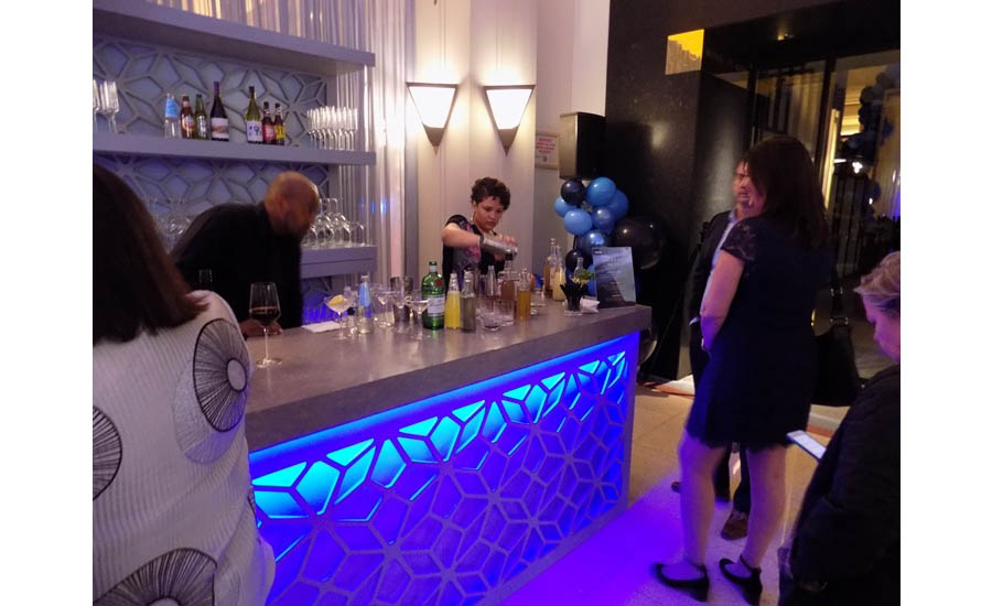 The drinks were flowing during the opening celebration in Chicago