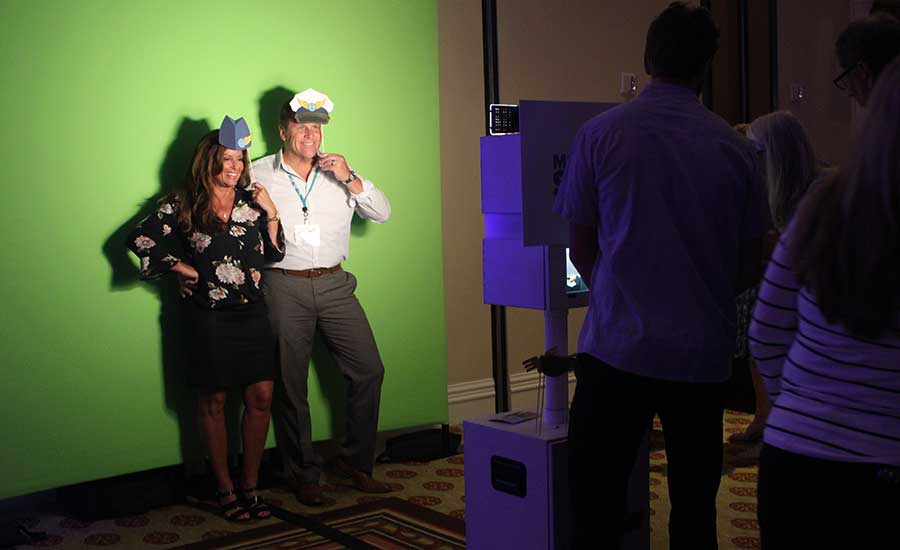 The closing celebration featured an aviation photo booth