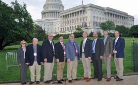 PCA Midwest delegation in front of Capitol Hill