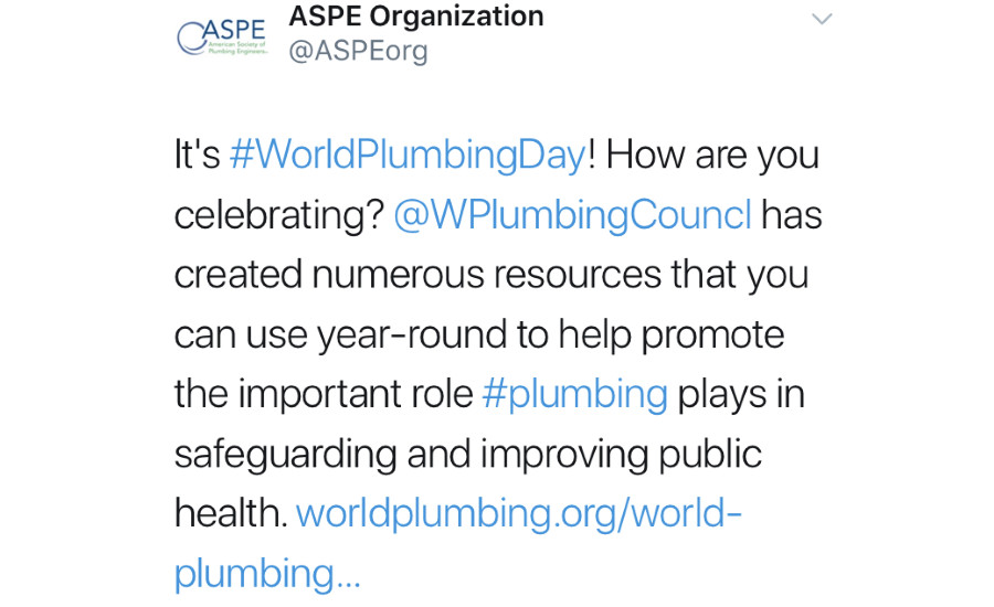 World Plumbing Day: March 11