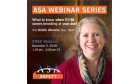 ASA OSHA Webinar