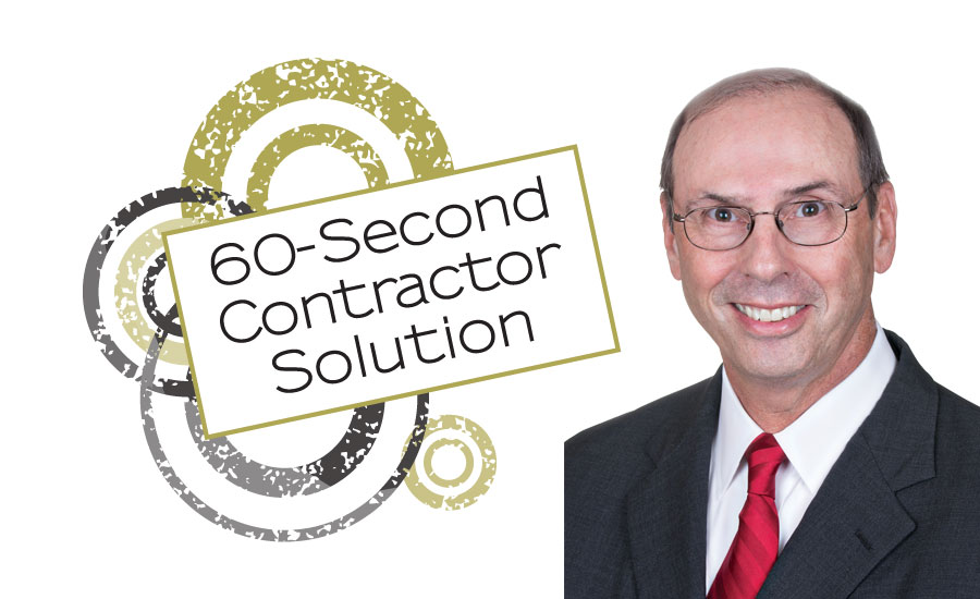 Al Levi gives advice in 60-second Contractor.