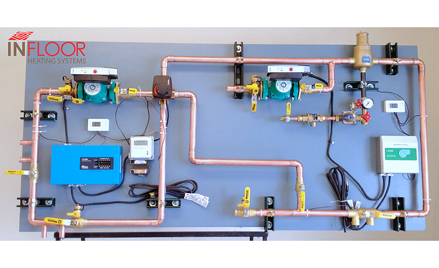 Infloor Heating Systems custom mechanical boards