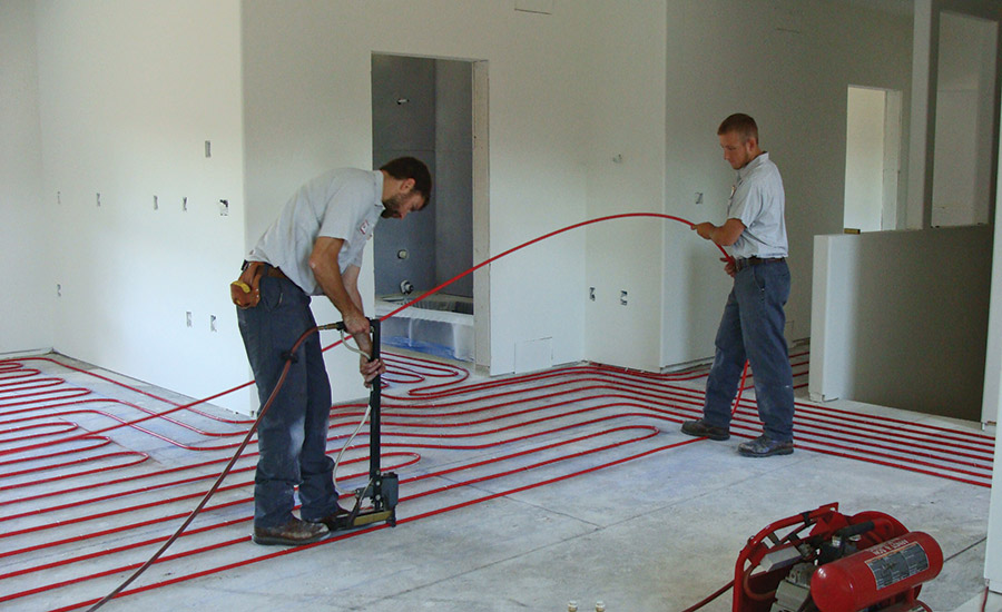 Radiant heating system solves comfort problems twice over