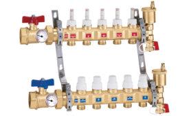 Caleffi pre-assembled radiant manifold