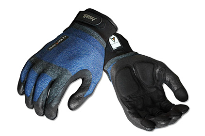Plumber glove with Kevlar