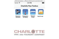 Charlotte Pipe's plumbing app