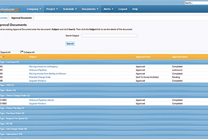 Project management software 2013 02 13 plumbing and for Maxwell construction software
