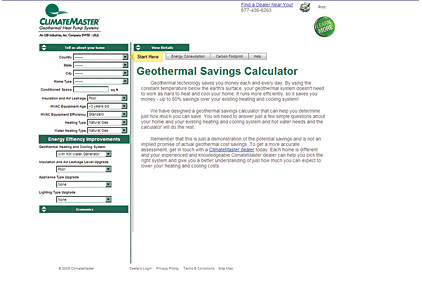 ClimateMaster savings calculator