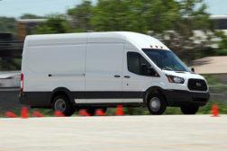 A Ford Transit cargo van