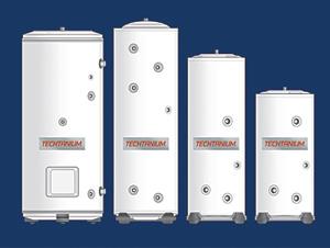 Titanium-lined indirect water heaters