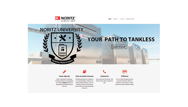 Noritz online tankless water heating training