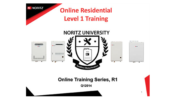 Noritz R1 tankless water heating training