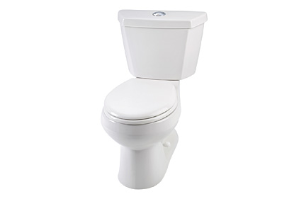 high-efficiency elongated toilet
