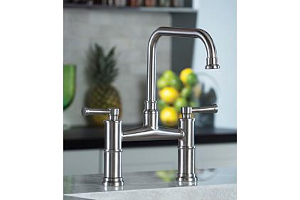 brizou0027s artesso kitchen collection delivers a full kitchen suite with bridge and bar faucet - Brizo Faucets