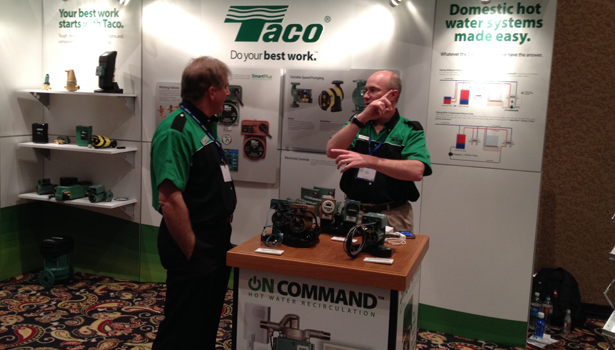 Taco is one of the exhibitors at the Uponor Expo