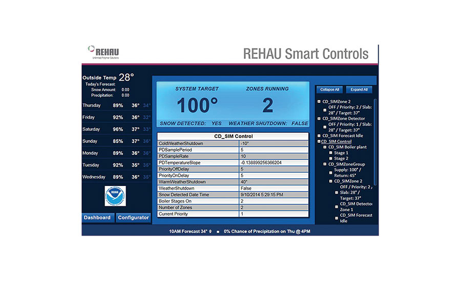 REHAU smart snow-melting system