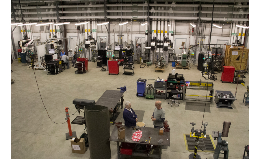 The U.S. Boiler testing area of the new center comprises 10,000 sq. ft. and 10 work stations to test products.