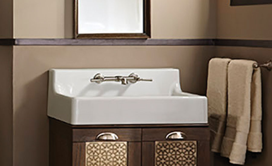 American Standard high-back lavatory sink