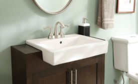 Gerber semi-recessed lavatory sink