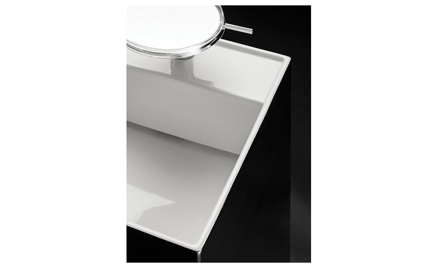 Laufen bathroom sink with hidden drain