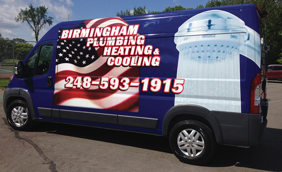 Birmingham Plumbing Heating and Cooling Truck
