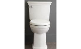 Self-cleaning, high-efficiency toilet
