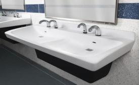 Bradley commercial lavatory system