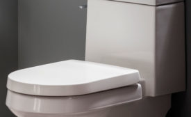 Gerber one-piece concealed trapway toilet