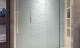 Rolling shower door collection