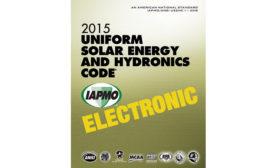 IAPMO solar and hydronics code