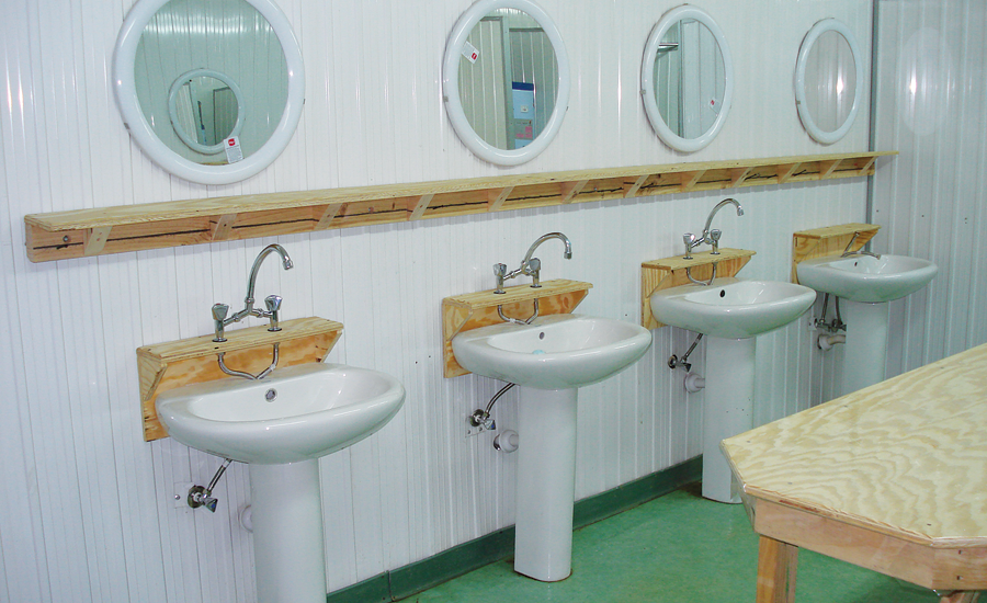 bathroom facilities for U.S. soldiers