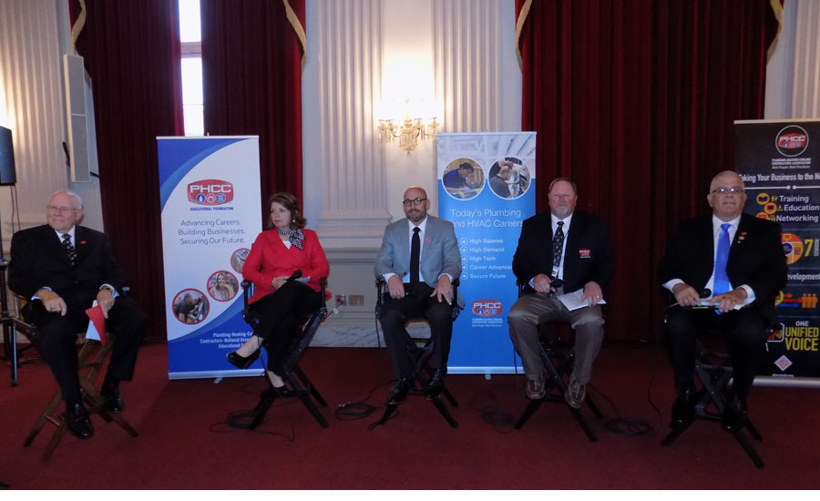 Plumbing-Heating-Cooling Contractors — National Association held a Workforce Development Roundtable April 27 on Capitol Hill.