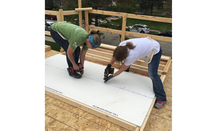 Bradley Corp. gathered volunteers to build this year's designated Women Build house May 2-5.