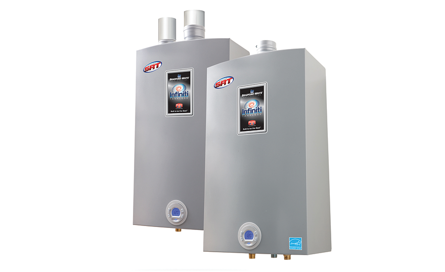 Bradford White tankless with reduced scale buildup