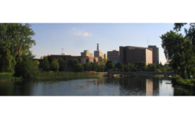 View of Flint, Mich., from the Flint River