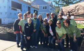 A woman-led team of 18 volunteers from Bradley Corp., assisted in building this year's Habitat for Humanity's Women Build house.