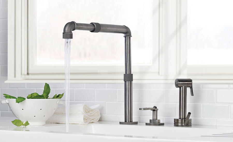 Watermark adjustable faucet spout