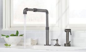 Watermark adjustable faucet spout; kitchen faucet, telescopic spout, Elan Vital, Watermark Designs
