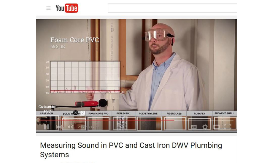 Charlotte Pipe video captures sound test of DWV plumbing