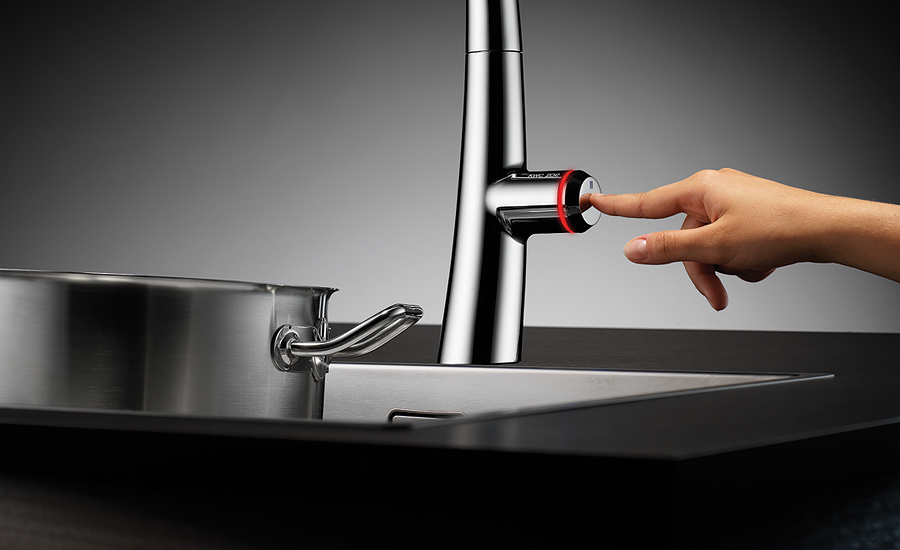 KWC's ZOE touch light PRO kitchen faucet