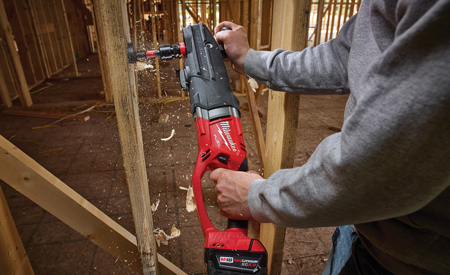 Milwaukee cordless right-angle drill