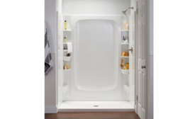 Sterling's storage shower system
