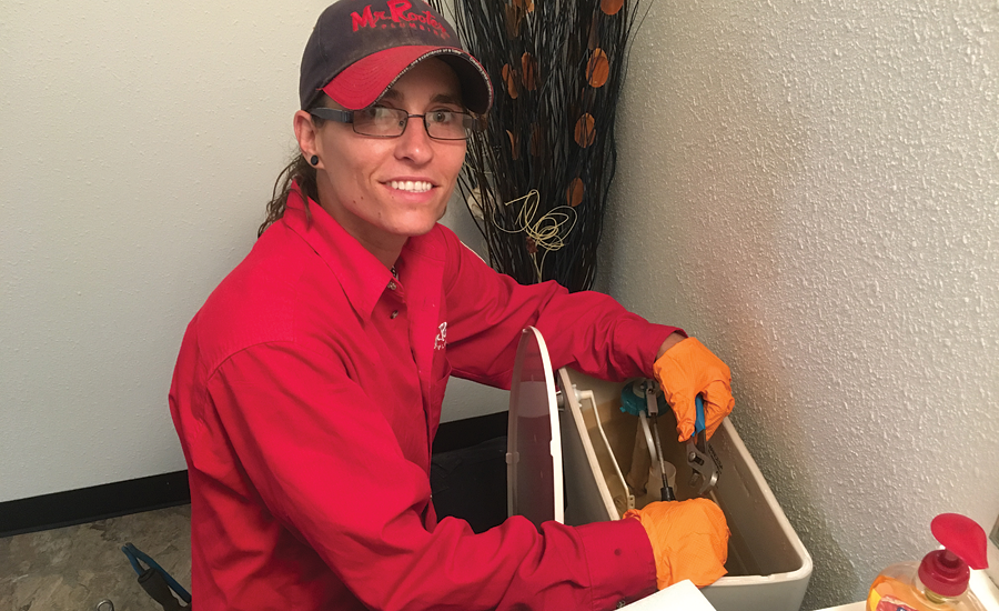 Dzejn Stamenov Started Her Plumbing Apprenticeship In 2012 Recently Reached 4000 Hours And Is Working Toward License She Likes Work As